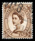 Vintage Queen Elizabeth Ii Postage Stamp