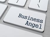 Business Angel Button on Computer Keyboard.