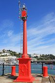 stock photo of wane  - waning light at the entrance of Torquay harbour - JPG