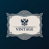 Label vector framework. Vintage tag decor ornament
