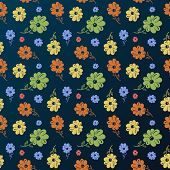 Vector flower pattern. Vintage seamless background wallpaper