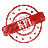 Red Weathered Kpi Stamp Circles And Stars