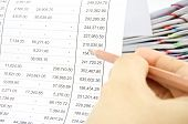 Man Auditing Account By Pencil With Pile Of Report