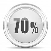70 percent internet icon