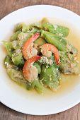 Stir-fried Shrimps With Zucchini.