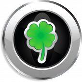 Four leaf clover web button