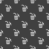 foto of dust-bin  - Trash bin web icon - JPG