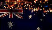 Australia National Flag Light Night Bokeh Abstract Background