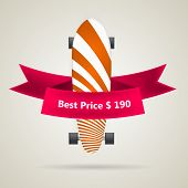 Ad layout for longboard with the best price.