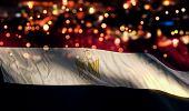 Egypt National Flag Light Night Bokeh Abstract Background