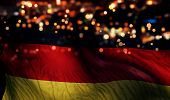 Germany National Flag Light Night Bokeh Abstract Background