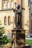 Statue Of Pope John Paul Ii In Sadowne