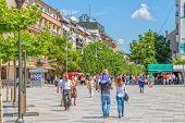 Mother Teresa street in Pristina