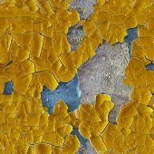 Cracked Old Enamel On Surface Of Wall - Seamless Pattern