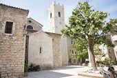 Village square in Saint Paul de Vence Provence France.
