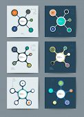 Set Of Infographics Molecule Design Template