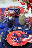 Red,white and blue decorations