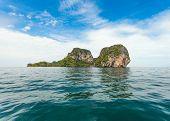 Thai Island with blue sky and sea
