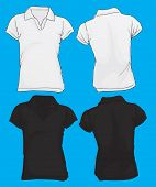 Women's Polo Shirt Template