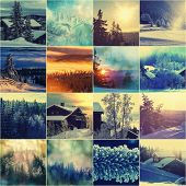 winter season collage