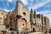 Avignon, France - 1 July 2014: Pope Palace In Avignon Which Became The Residence Of The Popes In 130