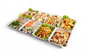 Airplane Food - Various Sushi Box, Salads and Pasta