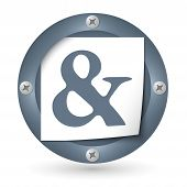 foto of ampersand  - dark abstract icon with paper and ampersand - JPG