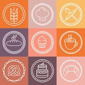 Vector Bakery And Pastry Emblems And Icons