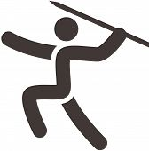 Постер, плакат: Javelin Throw Icon