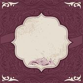 Decorative card vector template