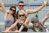 Fans at a Festival CONCERT CROWD