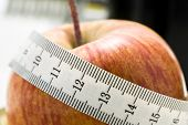 Fresh Apple Wrapped In A Tape Measure
