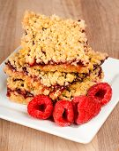 Raspberry Crumble Bars For Dessert