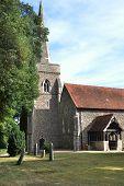 English parish church in sun