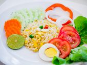 Fried Rice With Vegetable Salad
