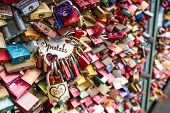 Cologne, Germany - August 26, 2014, Thousands Of Love Locks Which Sweethearts Lock To The Hohenzolle