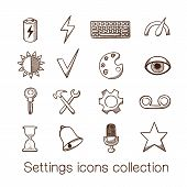 Settings icons collection.