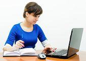 young woman at work in the office