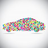 Car consist of dots
