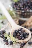 Portion Of Dried Juniper Berries