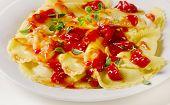 Italian  Ravioli Pasta With  Tomato Sauce