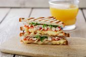 toast sandwich grill with chicken