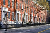 stock photo of brownstone  - New York City  - JPG