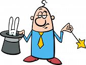 Magician Businessman Cartoon