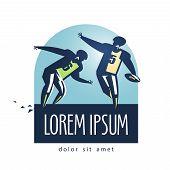 Football vector logo design template. sports or game icon.