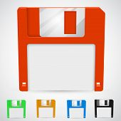 Vector illustration of a floppy disk