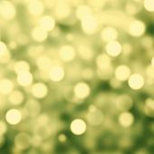 Green  Lights Festive Christmas  Background With Texture. Abstract Christmas Twinkled Bright Backgro