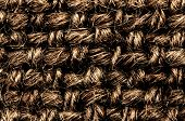 Background Of Textile Texture Macro.  Rough  Rattan Weave Background Close Up Image
