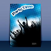 Flyer or Cover Design - Party Time - Party Time - Party Flyer with Doted Background