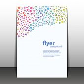 Flyer or Cover Design with Colorful Dots, Rings, Bubbles
